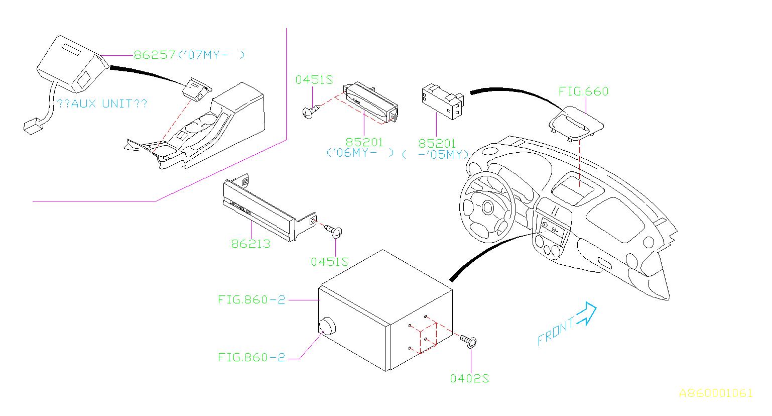 subaru impreza sedan clock assembly radio audio. Black Bedroom Furniture Sets. Home Design Ideas